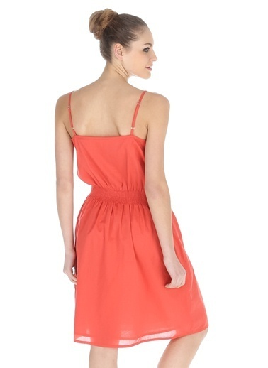 Asymmetry Elbise Oranj